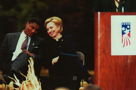 Rodney Slater with Hillary Rodham Clinton © Pryor Center for Arkansas Oral and Visual History, University of Arkansas