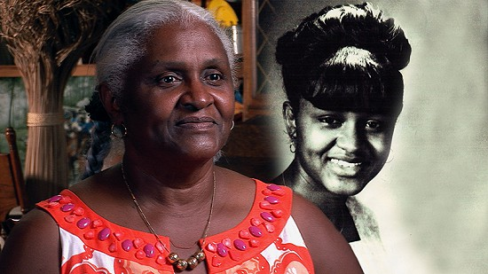 Composite image of early photo of Carolyn Smith-Williams and still frame from Pryor Center video interview © Pryor Center for Arkansas Oral and Visual History, University of Arkansas
