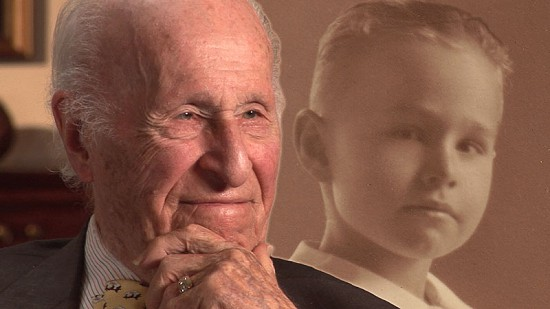 Composite image of early photo of David Solomon Jr. and still frame from Pryor Center video interview  © Pryor Center for Arkansas Oral and Visual History, University of Arkansas
