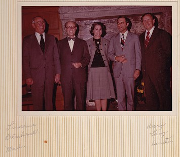 David Solomon (second from left) at his swearing-in ceremony for the Arkansas State Highway Commission, with (from left) Lawrence Blackwell, (wife) Miriam Solomon, Governor David Pryor, and ASHC director, Henry Gray, 1975 © Pryor Center for Arkansas Oral and Visual History, University of Arkansas