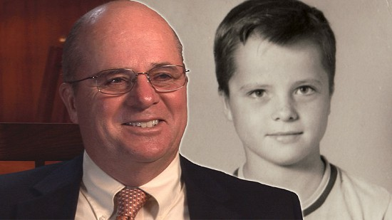 "Composite image of early photo of Martin ""Marty"" R. Steele and still frame from Pryor Center video interview © Pryor Center for Arkansas Oral and Visual History, University of Arkansas"