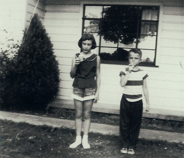 Marty Steele with his sister, Susan Steele; Fort Smith, Arkansas, ca. 1953 © Pryor Center for Arkansas Oral and Visual History, University of Arkansas