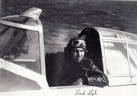 "Marty Steele's father, Richard ""Dick"" Dunlap Steele, in a World War II plane © Pryor Center for Arkansas Oral and Visual History, University of Arkansas"