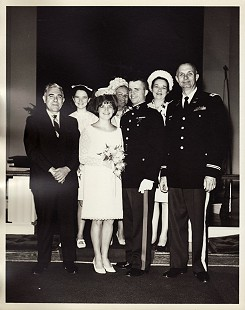 Marty and Cindy Steele on their wedding day, 1967                            © Pryor Center for Arkansas Oral and Visual History, University of Arkansas