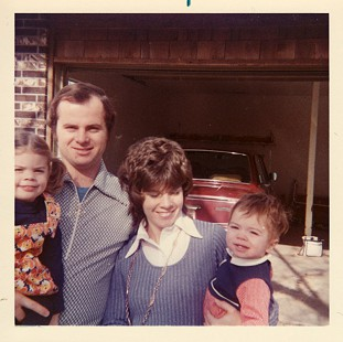 Marty and Cindy Steele with their children, Diane and David, early 1970s      © Pryor Center for Arkansas Oral and Visual History, University of Arkansas
