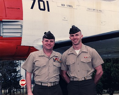 Marty Steele (left) with his son, David Steele © Pryor Center for Arkansas Oral and Visual History, University of Arkansas