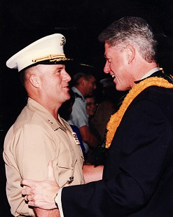 Major General Marty Steele with Bill Clinton                            © Pryor Center for Arkansas Oral and Visual History, University of Arkansas