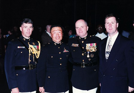 Lieutenant General Marty Steele (2nd from right), with aides, 1999 © Pryor Center for Arkansas Oral and Visual History, University of Arkansas