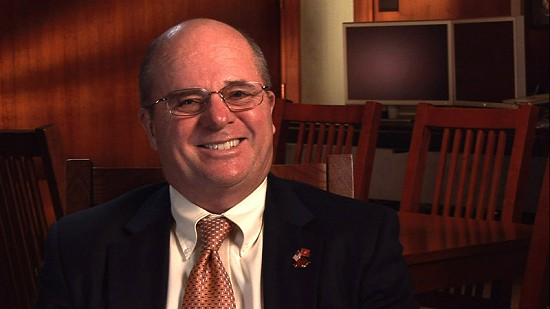 "Still frame from Pryor Center video interview with Martin ""Marty"" R. Steele at the Pryor Center; Fayetteville, Arkansas, November 13, 2009 © Pryor Center for Arkansas Oral and Visual History, University of Arkansas"