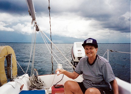 Dorothy Davis Stuck sailing at Hilton Head, 1981 © Pryor Center for Arkansas Oral and Visual History, University of Arkansas