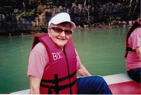 Dorothy Stuck on the Buffalo River, Arkansas, 2005 © Pryor Center for Arkansas Oral and Visual History, University of Arkansas