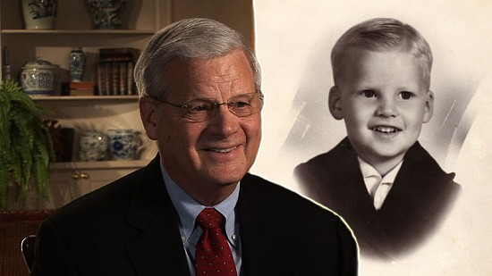 Composite image of still from Pryor Center video interview and childhood photo of B. Alan Sugg © Pryor Center for Arkansas Oral and Visual History, University of Arkansas