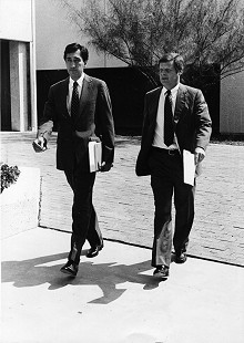 Henry Cisneros and B. Alan Sugg, October 4, 1982 © Pryor Center for Arkansas Oral and Visual History, University of Arkansas