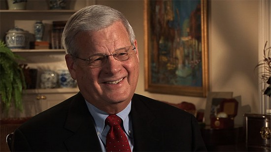 Still frame from Pryor Center video interview with B. Alan Sugg at the UA System president's home; Little Rock, Arkansas, 2008 © Pryor Center for Arkansas Oral and Visual History, University of Arkansas