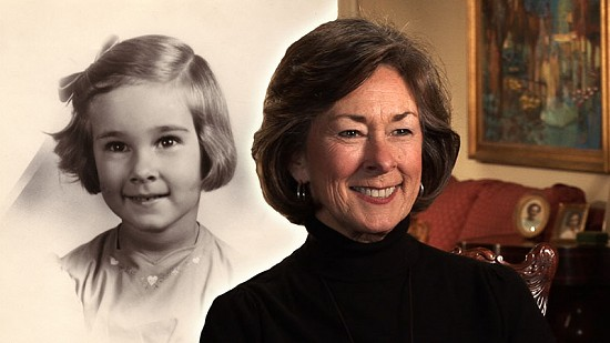 Composite image of early photo and still from Pryor Center video interview and of Jean Bussell Sugg © Pryor Center for Arkansas Oral and Visual History, University of Arkansas