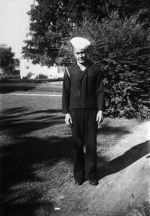 Carl Bussell, father of Jean Bussell (Sugg), in navy uniform © Pryor Center for Arkansas Oral and Visual History, University of Arkansas