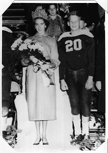 Jean Bussell (Sugg), 13, is the junior high homecoming queen, and B. Alan Sugg, 14, is the football captain; Helena, Arkansas, 1951 © Pryor Center for Arkansas Oral and Visual History, University of Arkansas