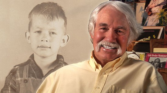 "Composite image of early photo of Berbon ""Bubba"" Sullivan and still frame from Pryor Center video interview © Pryor Center for Arkansas Oral and Visual History, University of Arkansas"