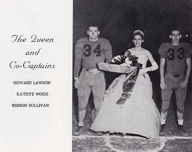 "Berbon ""Bubba"" Sullivan (right) as football co-captain, Elaine High School homecoming; Elaine, Arkansas, 1958 © Pryor Center for Arkansas Oral and Visual History, University of Arkansas"