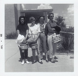 Bubba Sullivan's sister, Ginger Sullivan; cousin, Sally Smith; aunt, Wahnita Smith; and mother, Lucille Smith Sullivan, 1962 © Pryor Center for Arkansas Oral and Visual History, University of Arkansas