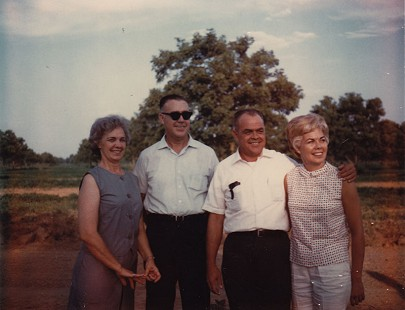 "Bubba Sullivan's mother, Lucille Smith Sullivan, his uncles, Frank and Cecil Smith, and his aunt, Billie Joyce ""Sissy"" Orbin © Pryor Center for Arkansas Oral and Visual History, University of Arkansas"