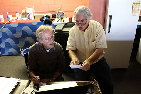 Behind-the-scenes photo from Pryor Center interview with Bubba Sullivan at Bubba's Blues Corner; Helena-West Helena, Arkansas, 2012 © Pryor Center for Arkansas Oral and Visual History, University of Arkansas