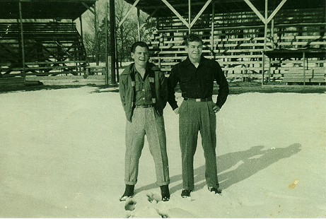 Buddy Sutton (right) with S. A. Westbrook; Hope, Arkansas, 1948 © Pryor Center for Arkansas Oral and Visual History, University of Arkansas