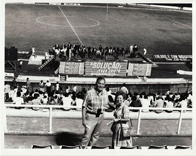 Buddy and Peggy Sutton at a crusade; Brazil, 1987 © Pryor Center for Arkansas Oral and Visual History, University of Arkansas