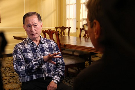 Behind-the-scenes photo from Pryor Center interview with George Takei at the Arlington Hotel; Hot Springs, Arkansas, 2014 © Pryor Center for Arkansas Oral and Visual History, University of Arkansas
