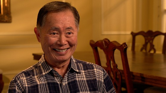 Still frame from Pryor Center video interview with George Takei at the Arlington Hotel; Hot Springs, Arkansas, 2014 © Pryor Center for Arkansas Oral and Visual History, University of Arkansas