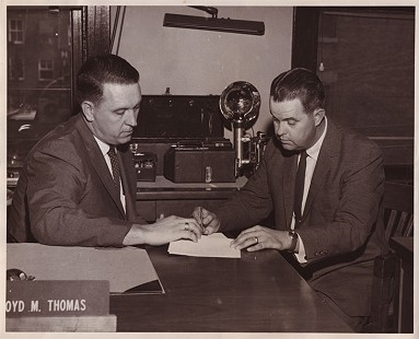 Floyd Thomas and Douglas Rosenberg; Poplar Bluff, Arkansas, early 1960s © Pryor Center for Arkansas Oral and Visual History, University of Arkansas