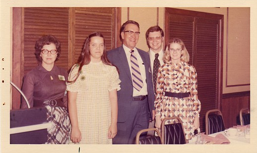 Floyd Thomas and family at his retirement banquet © Pryor Center for Arkansas Oral and Visual History, University of Arkansas