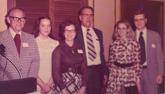 Floyd Thomas with his family and others at his retirement banquet © Pryor Center for Arkansas Oral and Visual History, University of Arkansas