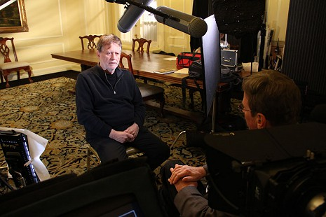 Behind-the-scenes photo from Pryor Center interview with Harry Thomason at the Arlington Hotel; Hot Springs, Arkansas, 2014 © Pryor Center for Arkansas Oral and Visual History, University of Arkansas