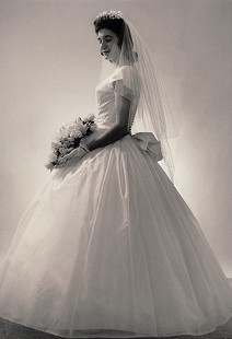 Leland Tollet's wife, Betty Tollett, in her wedding dress, June 1961 © Pryor Center for Arkansas Oral and Visual History, University of Arkansas