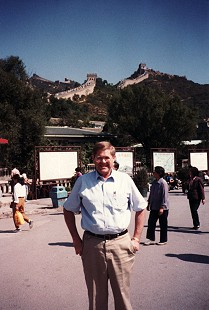 Leland Tollett at the Great Wall of China © Pryor Center for Arkansas Oral and Visual History, University of Arkansas
