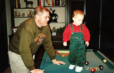 Leland Tollett with his grandson, 1993 © Pryor Center for Arkansas Oral and Visual History, University of Arkansas