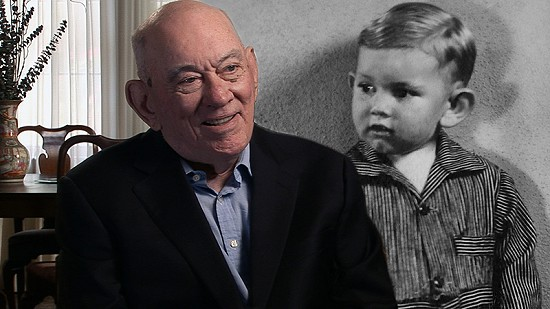 Composite image of early photo of John D. Trimble Jr. and still frame from Pryor Center video interview © Pryor Center for Arkansas Oral and Visual History, University of Arkansas