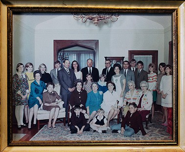John D. Trimble Jr. (standing, 5th from left) at a family reunion, 1965 © Pryor Center for Arkansas Oral and Visual History, University of Arkansas