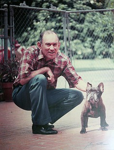 John D. Trimble Jr. with his French bulldog © Pryor Center for Arkansas Oral and Visual History, University of Arkansas