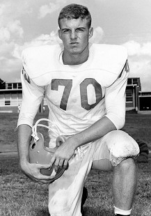 Jim Guy Tucker's Hall High School football portrait; Little Rock, Arkansas, 1961 © Pryor Center for Arkansas Oral and Visual History, University of Arkansas
