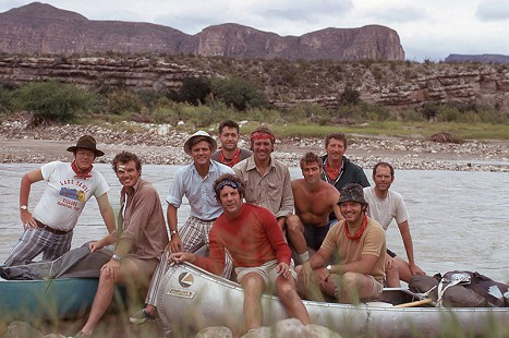 Jim Guy Tucker (2nd from left) on the Rio Grande River, 1973 © Pryor Center for Arkansas Oral and Visual History, University of Arkansas