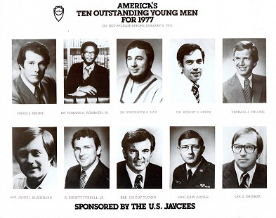 Jim Guy Tucker (bottom row, center) named by the US Jaycees as one of America's Ten Outstanding Young Men for 1977 © Pryor Center for Arkansas Oral and Visual History, University of Arkansas