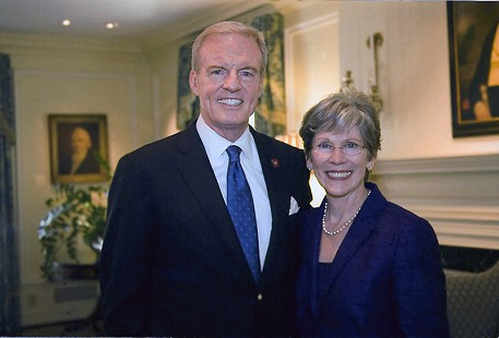 Jim Guy and Betty Tucker, Arkansas Governor's Mansion; Little Rock, Arkansas, 2010 © Pryor Center for Arkansas Oral and Visual History, University of Arkansas