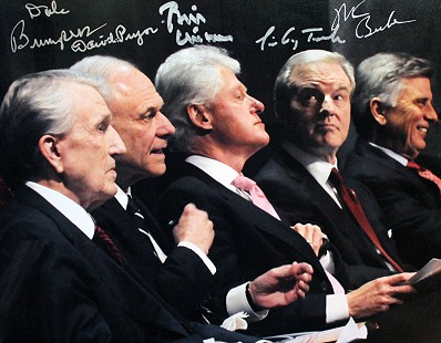 Arkansas governors: Dale Bumpers, David Pryor, Bill Clinton, Jim Guy Tucker, and Mike Beebe © Pryor Center for Arkansas Oral and Visual History, University of Arkansas