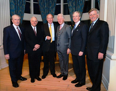 Dale Bumpers, David Pryor, John Gill, Bill Clinton, Jim Guy Tucker, and Mike Beebe at the Arkansas Governor's Mansion; Little Rock, Arkansas, 2011 © Pryor Center for Arkansas Oral and Visual History, University of Arkansas