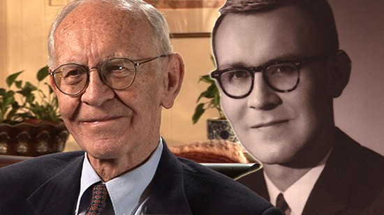 Composite image of early photo of Harry Ward and still frame from Pryor Center video interview © Pryor Center for Arkansas Oral and Visual History, University of Arkansas