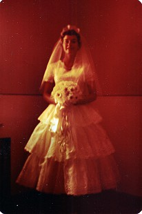Betty Jo (Stewart) Ward, wife of Harry Ward, on their wedding day; Pueblo, Colorado, 1955 © Pryor Center for Arkansas Oral and Visual History, University of Arkansas