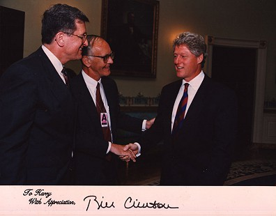 Harry Ward with Bill Clinton at the White House, June 27, 1994 © Pryor Center for Arkansas Oral and Visual History, University of Arkansas