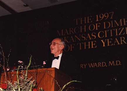 Harry Ward, 1997 March of Dimes Arkansas Citizen of the Year © Pryor Center for Arkansas Oral and Visual History, University of Arkansas